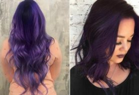 Bold and Trendy Dark Purple Hair Color Ideas