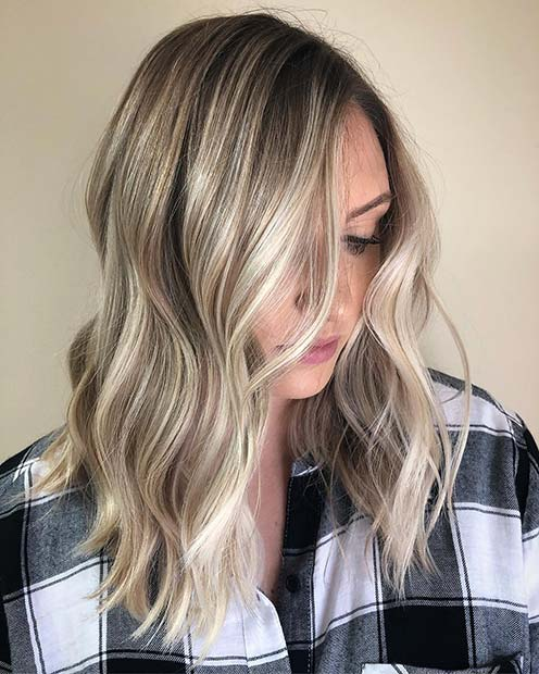 Ashy Blonde Long Bob