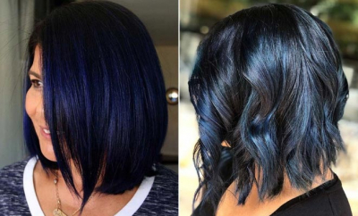 23 Beautiful Blue Black Hair Color Ideas to Copy ASAP