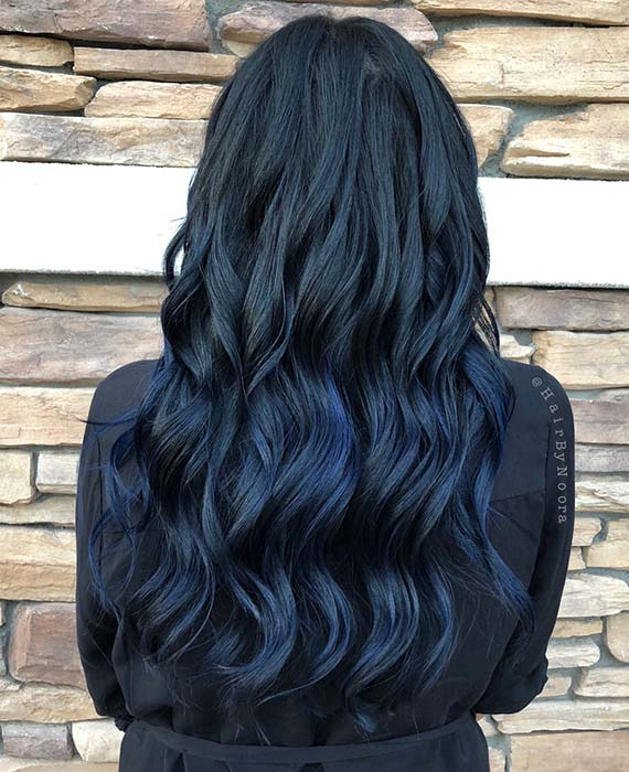 Dark Denim Haarfarbe Idee