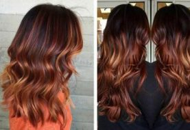 Copper Balayage Hair Ideas for Fall