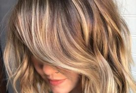 Short Straight Casual    Hairstyle  - Chocolate Brunette Hair Color with Light Blonde Highlights