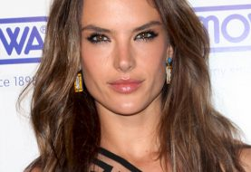 Alessandra Ambrosio Long Straight Casual Hairstyle   -  Chocolate Brunette Hair Color