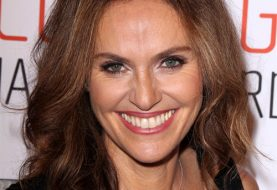 Amy Brenneman Long Wavy Casual    Hairstyle   -  Auburn Brunette Hair Color