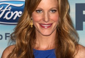 Anna Gunn Long Straight Casual Hairstyle  - Copper Brunette Hair Color
