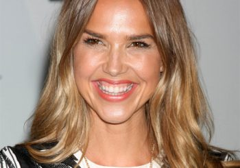 Arielle Kebbel Long Straight Casual Hairstyle - Light Golden Brunette Hair Color