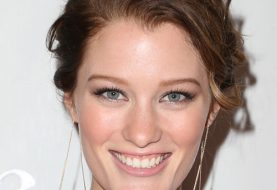 Ashley Hinshaw Long Wavy Casual   Updo Hairstyle   -  Auburn Brunette Hair Color