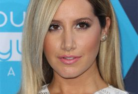Ashley Tisdale Medium Straight Formal  Hairstyle   - Light Blonde Hair Color