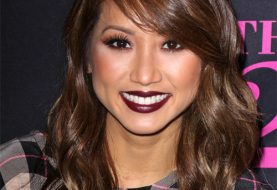 Brenda Song Long Wavy Casual  Hairstyle with Side Swept Bangs  -  Chocolate Brunette Hair Color