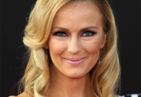 Brooke Anderson Long Wavy Formal    Hairstyle   -  Golden Blonde Hair Color