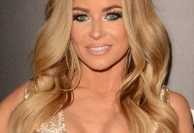 Carmen Electra Long Wavy Formal    Hairstyle   -  Honey Blonde Hair Color