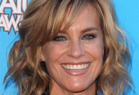 Catherine Mary Stewart Medium Wavy Casual    Hairstyle with Side Swept Bangs  - Dark Blonde Hair Color