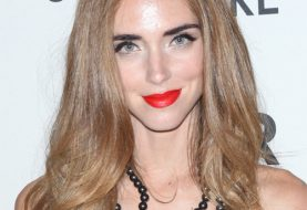Chiara Ferragni Long Straight Formal    Hairstyle   - Light Caramel Brunette Hair Color