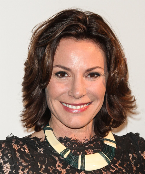 Countess LuAnn de Lesseps Medium Straight Casual    Hairstyle   - Dark Brunette Hair Color