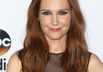 Darby Stanchfield Long Wavy Casual    Hairstyle   -  Red Hair Color