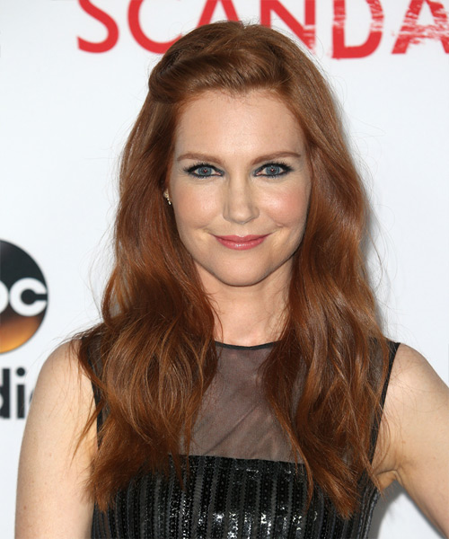 Darby Stanchfield Long Wavy Casual Hairstyle   –  Red Hair Color