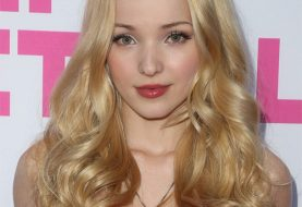 Dove Cameron Long Wavy Formal    Hairstyle   - Light Golden Blonde Hair Color