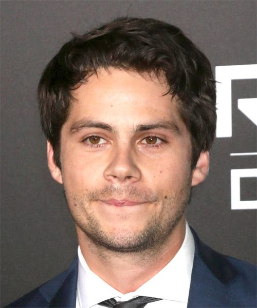 Dylan OBrien Short Wavy Casual    Hairstyle   - Dark Brunette Hair Color