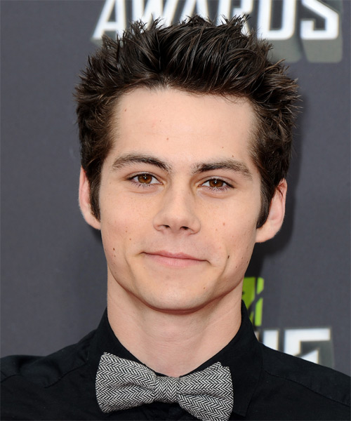 Dylan OBrien Short Straight Casual    Hairstyle   - Dark Brunette Hair Color