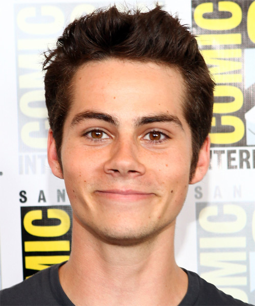 Dylan O'Brien Short Straight Casual    Hairstyle   - Dark Brunette Hair Color