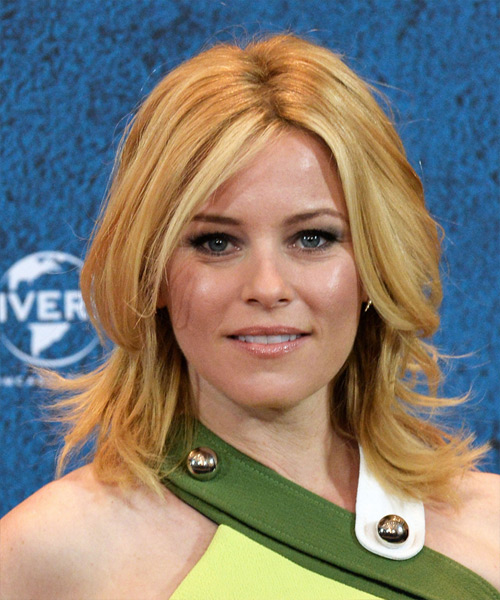 Elizabeth Banks Medium Straight Casual    Hairstyle   –  Honey Blonde Hair Color with Light Blonde Highlights