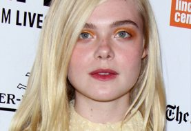 Elle Fanning Long Straight Casual  Bob  Hairstyle   - Light Blonde Hair Color