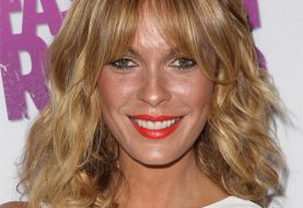 Jasmine Dustin Medium Wavy Casual    Hairstyle with Layered Bangs  - Dark Blonde Hair Color with  Blonde Highlights