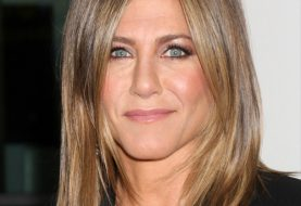 Jennifer Aniston Medium Straight Casual    Hairstyle   -  Caramel Brunette Hair Color with Dark Blonde Highlights