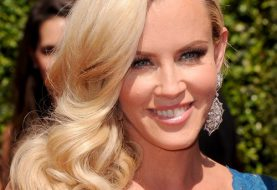 Jenny McCarthy Long Wavy Formal    Hairstyle   - Honey Hair Color