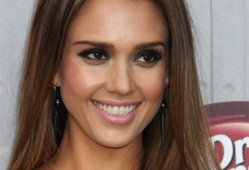 Jessica Alba Long Straight Casual    Hairstyle   -  Brunette Hair Color