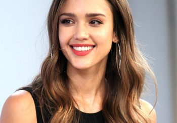 Jessica Alba Long Wavy Casual    Hairstyle   -  Brunette Hair Color
