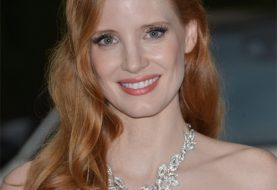 Jessica Chastain Long Straight Casual    Hairstyle   -  Copper Red Hair Color