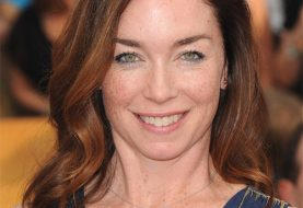 Julianne Nicholson Long Wavy Casual    Hairstyle   -  Auburn Brunette Hair Color
