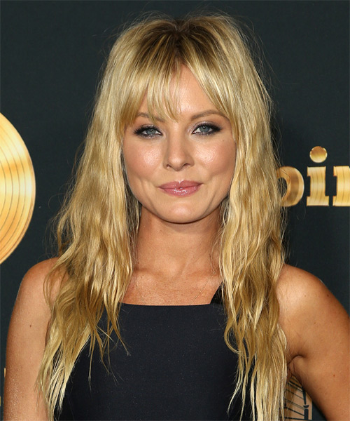 Kaitlin Doubleday Long Straight Casual    Hairstyle with Layered Bangs  –  Blonde Hair Color
