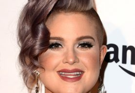 Kelly Osbourne Short Wavy Alternative  Asymmetrical  Hairstyle   - Purple  Hair Color