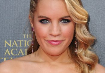 Kristen Alderson Long Wavy Formal    Hairstyle   -  Golden Blonde Hair Color with Light Blonde Highlights