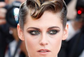 Kristen Stewart Short Wavy Casual  Mohawk  Hairstyle   -  Brunette Hair Color
