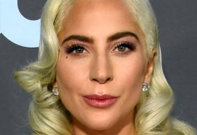 Lady Gaga Medium Wavy Casual Hairstyle with Side Swept Bangs  - Light Blonde and Yellow Two-Tone Hair Color