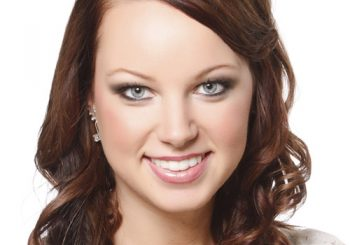 Long Curly Formal    Hairstyle with Side Swept Bangs  - Chestnut Hair Color