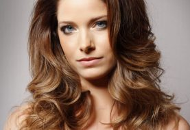Long Wavy Formal    Hairstyle   -  Chestnut Brunette and Light Brunette Two-Tone Hair Color
