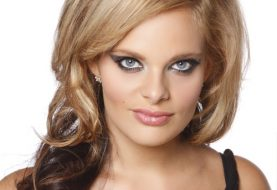 Long Wavy Formal    Hairstyle   -  Mocha Blonde and Golden Two-Tone Hair Color