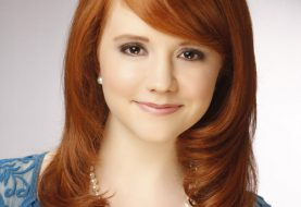 Long Wavy Formal    Hairstyle with Side Swept Bangs  - Orange  Hair Color