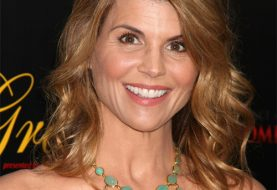 Lori Loughlin Long Wavy Formal    Hairstyle   -  Golden Brunette Hair Color