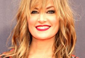 Madchen Amick Long Straight Casual    Hairstyle with Layered Bangs  - Light Brunette Hair Color