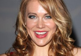 Maitland Ward Long Wavy Casual Hairstyle - Light Copper Brunette Hair Color with Dark Blonde Highlights