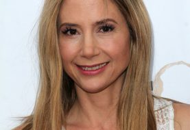 Mira Sorvino Long Straight Casual    Hairstyle   - Dark Blonde Hair Color