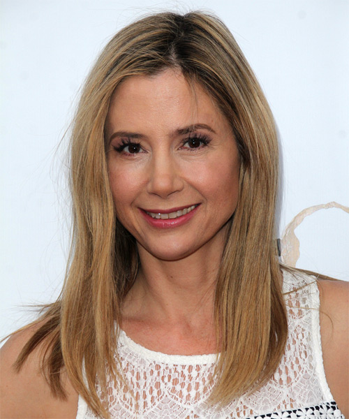 Mira Sorvino Long Straight Casual    Hairstyle   – Dark Blonde Hair Color
