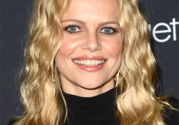 Mircea Monroe Long Curly Casual  Bob  Hairstyle   -  Honey Blonde Hair Color