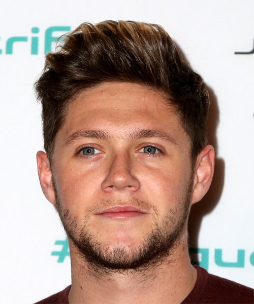Niall Horan Short Straight Casual    Hairstyle   – Dark Brunette Hair Color