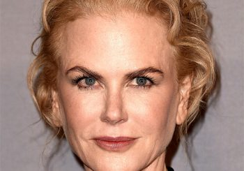 Nicole Kidman Long Wavy Casual   Updo Hairstyle   - Light Strawberry Blonde Hair Color